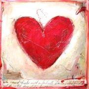 Du kannst Liebe nicht außerhalb deine Selbst finden, weil du selbst diese Liebe bist.(Artur-Sein.de) 100x100cm  Acryl/Kreiden