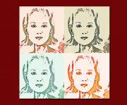 Vierer Serie Portrait je 70x70cm